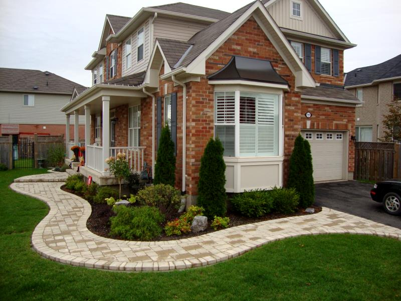 National landscape interlocking stone flagstone wood for Garden design ideas ontario